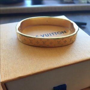 Louis Vuitton Nanogram Gold Cuff Small